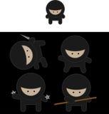 Vetor dos lutadores de Ninja Fotos de Stock