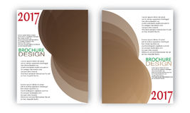 Vetor dos moldes do projeto da onda do folheto do inseto Imagem de Stock Royalty Free