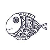 Vetor dos peixes da garatuja Imagens de Stock Royalty Free