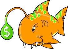Vetor dos peixes do dinheiro de Wall Street Fotos de Stock Royalty Free