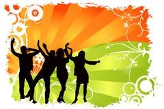 Vetor dos povos da dança Fotos de Stock