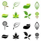 Vetor dos símbolos da natureza ilustração do vetor