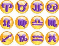 Vetor dos símbolos do Horoscope do zodíaco Imagem de Stock Royalty Free