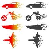 Vetor dos veículos do incêndio ilustração royalty free