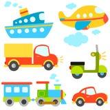 Vetor dos veículos dos desenhos animados Fotos de Stock Royalty Free