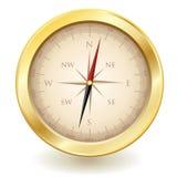 Vetor dourado do compasso ilustração stock