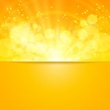 Vetor e espaço brilhantes do sol para seu texto Imagens de Stock