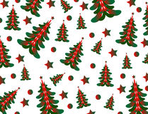 Vetor e ilustração do fundo da árvore de Natal Fotos de Stock