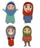 Vetor e projeto da menina do Islã dos desenhos animados Foto de Stock Royalty Free