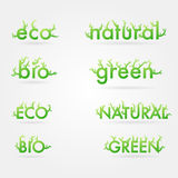Vetor ecology set Stock Images