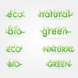 Vetor ecology set Royalty Free Stock Images