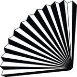 Vetor editável inteiramente resizable de papel do ícone do origame do fã na cor preta foto de stock royalty free