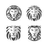 Vetor elegante do logotipo do leão ilustração stock