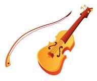 Vetor engraçado do violino dos desenhos animados Foto de Stock Royalty Free