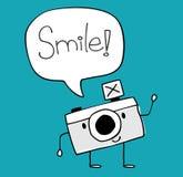 Vetor engraçado dos desenhos animados da câmera Foto de Stock Royalty Free