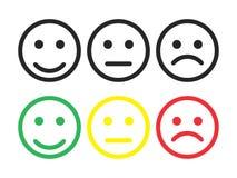 Vetor eps10 do ?cone do sorriso As emoções do smiley enfrentam o sinal Ícone da emoção do feedback do sorriso ilustração do vetor