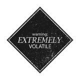Vetor eps8 do sinal da advertência e do perigo Fotos de Stock Royalty Free