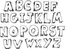 Vetor esboçado do alfabeto Fotos de Stock Royalty Free