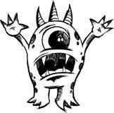 Vetor esboçado do diabo do monstro Foto de Stock