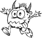 Vetor esboçado do diabo do monstro Imagens de Stock