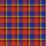 Vetor escocês do teste padrão do fundo da manta da tartã amarela azul vermelha Foto de Stock