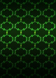 Vetor escuro do fundo do teste padrão verde da rede da flor Fotografia de Stock