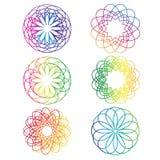 Vetor espiral dos elementos do sumário do arco-íris Imagens de Stock Royalty Free