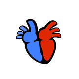 Vetor estilizado do órgão do coração Fotos de Stock Royalty Free