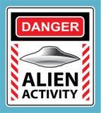 Vetor estrangeiro do sinal de aviso da atividade do perigo ilustração royalty free