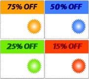 Vetor. etiquetas do Tag da venda com disconto Imagens de Stock Royalty Free