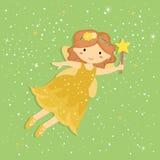 Vetor feericamente amarelo pequeno bonito ilustração royalty free