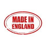 Vetor feito no selo de Inglaterra fundo informativo da ilustração, da propaganda e do mercado Imagem de Stock