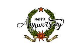Vetor feliz do molde do aniversário Imagem de Stock Royalty Free
