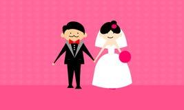 Vetor feliz dos pares do casamento Fotos de Stock