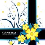 Vetor floral da bandeira Imagens de Stock Royalty Free