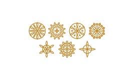 Vetor floral do ícone do logotipo do sumário da flor ilustração royalty free