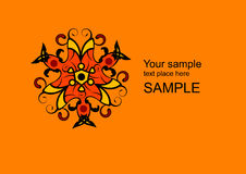 Vetor floral do logotipo Imagens de Stock Royalty Free