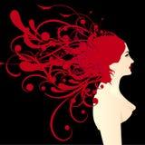 Vetor floral do penteado ilustração royalty free