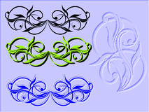 Vetor floral dos elementos Foto de Stock