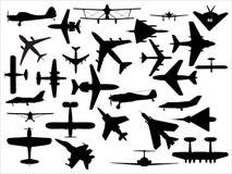 Vektorflugzeugsatz Stockbilder