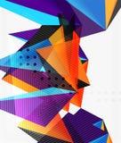 vetor geométrico dos triângulos 3d Imagem de Stock