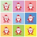 Vetor gráfico das emoções de Santa Fotografia de Stock Royalty Free