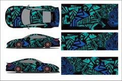 Vetor gr?fico do carro, forma de compet?ncia abstrata com projeto moderno da ra?a para o ve?culo v ilustração stock