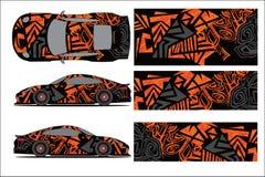 Vetor gráfico do carro, forma de competência abstrata com projeto moderno da raça para o veículo ilustração royalty free