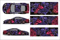 Vetor gráfico do carro, forma de competência abstrata com projeto moderno da raça para o veículo ilustração stock
