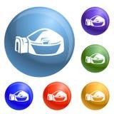 Vetor grande do grupo dos ícones do iglu ilustração royalty free