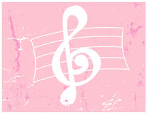 Vetor Grunge - clef de triplo Foto de Stock Royalty Free
