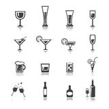 Vetor grupo do ícone da bebida Imagem de Stock Royalty Free