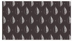 Vetor handdrawn da ilustração do estilo do hypster do teste padrão das folhas para a finalidade do fundo ou imagens imprimíveis ilustração do vetor