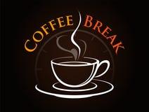 Vetor, hora de tomar uma ruptura de café Fotos de Stock